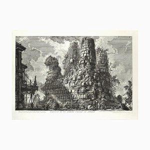 Sepolcro dè fr fratelli Curazj in Albano - Radierung von GB Piranesi 1756
