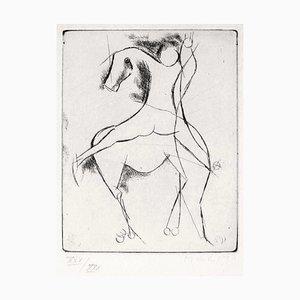 Knight - Original Radierung von Marino Marini Late 1900