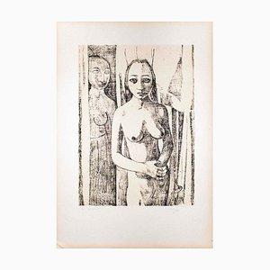 Nudes I - Original Lithograph by Felice Casorati - 1946 1946