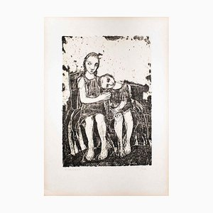 The Embrace - Original Lithografie von Felice Casorati - 1946 1946