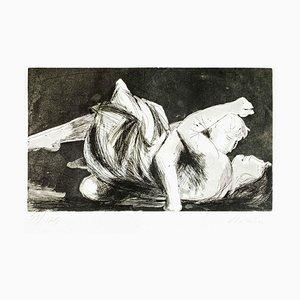 Lovers II - Original Etching by Giacomo Manzù - 1970 1970