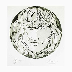 Round Medusa - Original Etching by Giacomo Manzù - 1970 1970
