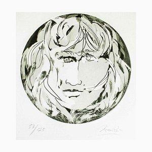 Runde Medusa - Original Radierung von Giacomo Manzù - 1970 1970