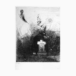 Illustration from the series ''Les Fleurs du mal'' - Etching After O. Redon 1923