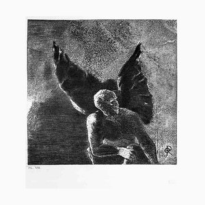 Illustration de la série '' Les Fleurs du mal '' - Etching After O. Redon 1923