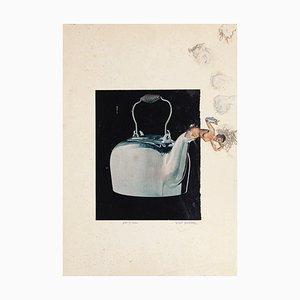 Pot and Feu - Original Collage by Sergio Barletta - 20th Century 20th Century