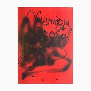 Memoria Personal - Original Lithographie von Antoni Tapies - 1988 1988