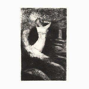 Passage d'une Ame - Original Radierung von O. Redon - 1891 1891