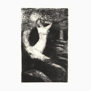 Passage d'une Ame - Original Etching by O. Redon - 1891 1891