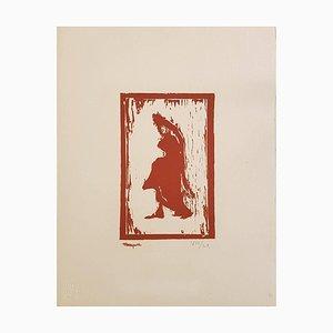 Frauenfigur - Original Holzschnitt von A. Marquet - ca. 1910 Ca. 1910