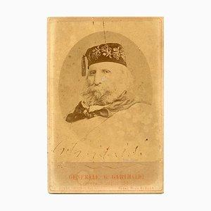 Portrait et Dédicace de Giuseppe Garibaldi Autographié - 1880s 1880s