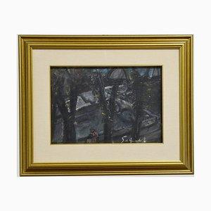 Nazareno Gattamelata - Original Öl auf Holz von N. Gattamelata - 1970er 1970er