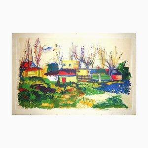 Landscape - Original Watercolor by Giovanni Omiccioli - 1970 1970