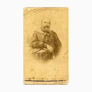 Portrait of Garibaldi - Original Albumen Druck mit handschriftlichen Notizen - 1860/70 1960/70