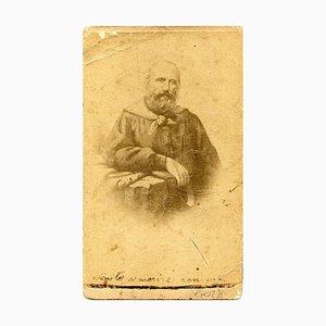 Ritratto di Garibaldi - Stampa originale all'album con note scritte a mano - 1860/70 1960/70