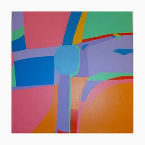 Surface Polychrome - Acrylique sur Toile par Genny Puccini - 1976 1976