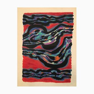 Collines - Original Lithograph y A. Manessier - 1960 1960