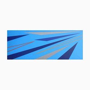 Composizione blu - Olio originale su tela di Marcello Grottesi - 1977 1977