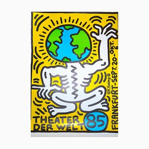 Keith Haring Theater Der Welt - Vintage Poster - 1985 1985