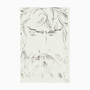 Portrait of Oedipus - Original Etching by Giacomo Manzù - 1968 1968