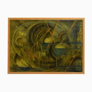 Yellow Composition - Öl auf Leinwand von A. di Manno - 2000 2000