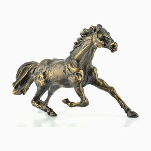 Running Horse - Bronze Sculpture by C. Mongini - 1970s 1970s