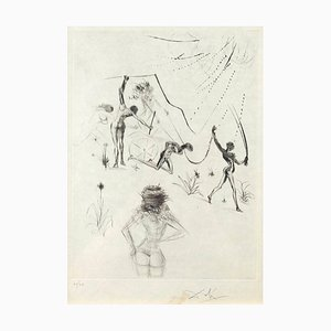 Les Negresses - Original Etching and Drypoint by S. Dali - 1969 1969