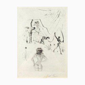 Les Negresses - Original Radierung und Kaltnadel von S. Dali - 1969 1969