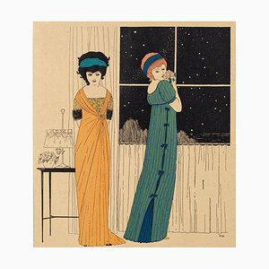 Models at the Window - Original Stencil by Paul Iribe - 1908 1908
