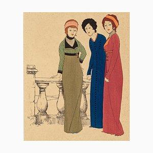 Three Models - Original Stencil by Paul Iribe - 1908 1908