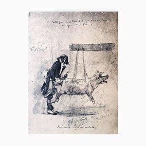 Médecine Expérimentale - Grabado Original de Félicien Rops - 1854 1854