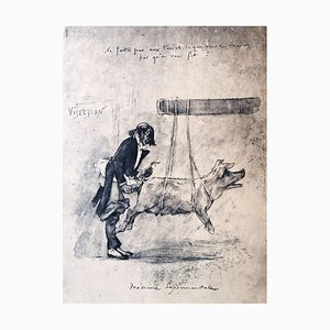 Médecine Expérimentale - Original Radierung von Félicien Rops - 1854 1854
