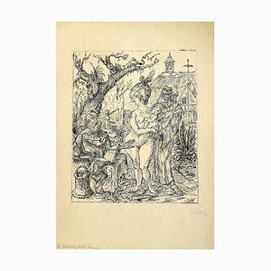 Die Versuchung des Heiligen Antonius - Original Lithograph by A. Kubin - 1922 1922