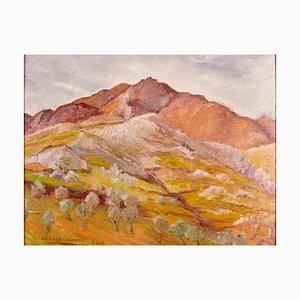 Landschaft in Grau. Original Öl an Bord von O. Amato - 1942 1942