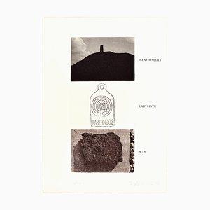 Glastonbury, Labyrinth, Peat - Original Erching by Joe Tilson - 1976 1976
