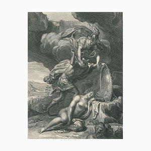 Persée coupe la téte à Meduse - Original Etching by by B. Picart - 1742 1742