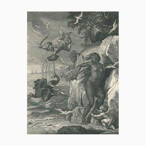 Persée délivre Andromede - Original Etching by by B. Picart - 1742 1742
