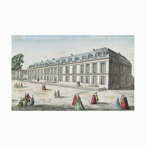Chateau De Choisy - Original Etching 18° Century 18th Century