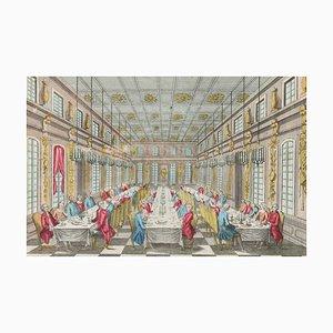 Salle Des Festins De Versailles - Original Radierung Spätes 18. Jahrhundert, 18. Jh