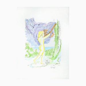 Eurydice - Original Lithographie von Giuseppe Ingegno - 1979 1979