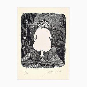 Erotic Scene - Linocut on Paper by Jean Barbe / Mino Maccari - 1945 1945