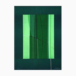 Green - Original Lithografie von Lorenzo Indrimi - ca. 1970 1970