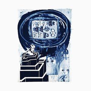 Woman in Labyrinth - Original Lithograph by Nani Tedeschi - 1971 1971
