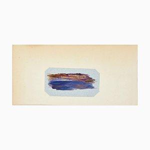 Composición abstracta - Gouache original de Paul Bony - años 50
