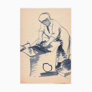 Woman - Original Aquarell Zeichnung von Ildebrando Urbani - 1931 1931