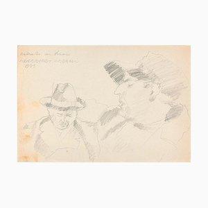 Ritratti (Portraits) - Original Pencil Drawing by Ildebrando Urbani - 1933 1933