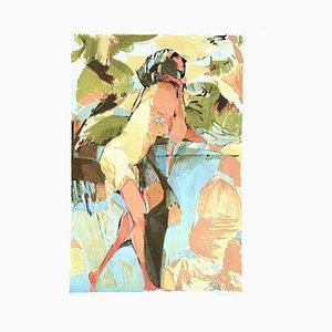 Woman - Original Lithograph by Ugo Rambaldi - 1970s 1970s