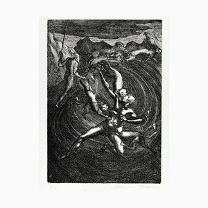 Untitled - From ''Don Chisciotte'' - Original Etching by M. Tommasi - 1970 1970