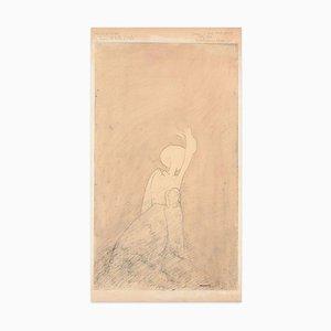 Un chapeau de Paille d'Italie - Original China Ink Drawing by Flor David - 1951 1951