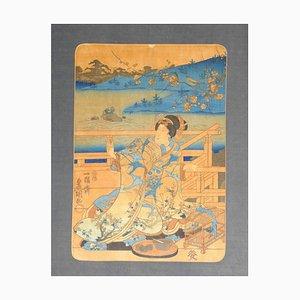 Woman - Original Holzschnitt von Utagawa Kunisada - ca. 1830 Ca. 1830